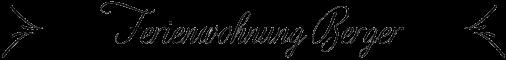 Ferienwohnung Berger Logo